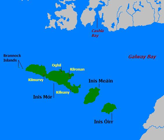 Mapa de las Islas Aran