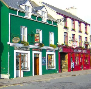 Coloridos Pubs irlandeses.