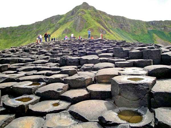Bloques de piedra de la calzada de los gigantes