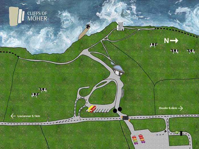 Mapa de los acantilados