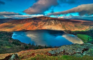 Lago Guinness en los Mones Wicklow.