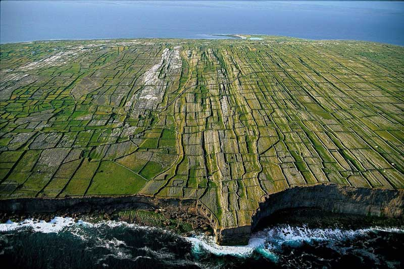 Vista aérea de la Isla de Aran