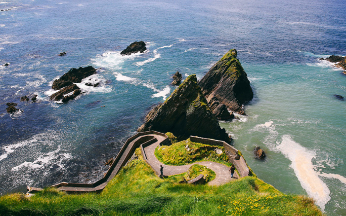 Dunquin Pier, en la península de Dingle