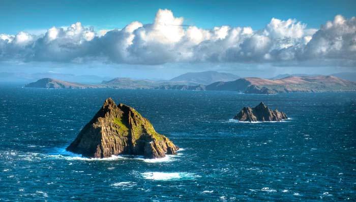 Foto panorámica de las Islas Skellig