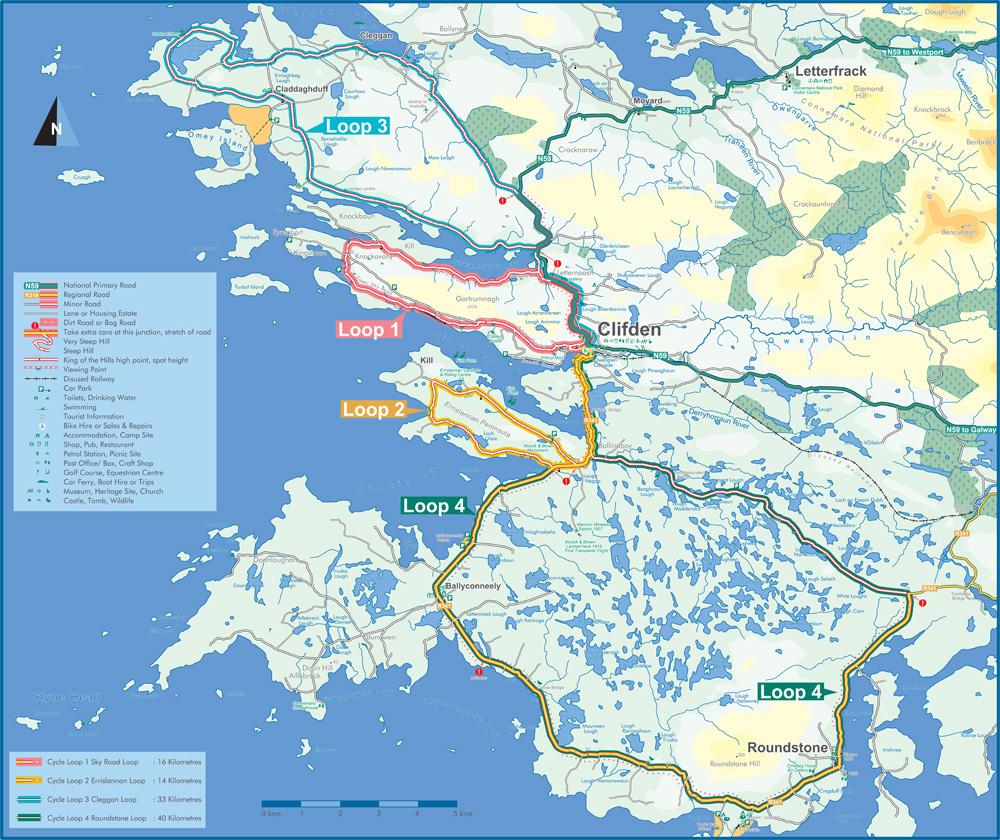 Mapa de Rutas por Connemara