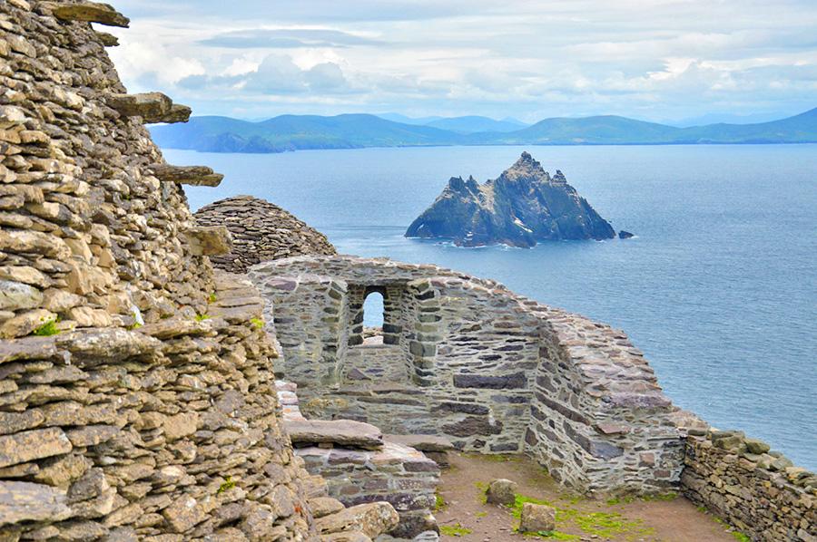 Casas de los monjes en Skellig Michaelque sirvieron como escenario de Star Wars